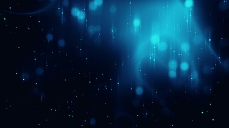Blue Glowing Dots Particles Field VJ Loop Background