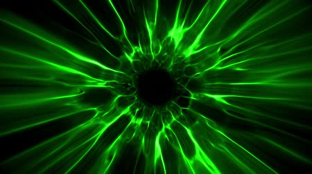 urdidura : Green Black Hole Energy Tunnel Intro Logo Loop Background