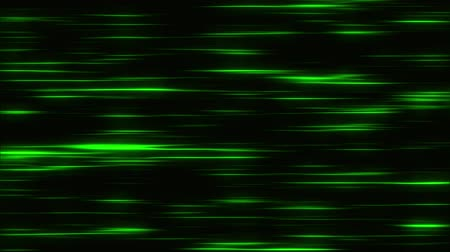 ориентация : Green Flowing Horizontal Light Stripes Loop Motion Background Стоковые видеозаписи
