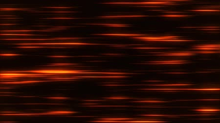 ориентация : Orange Flowing Horizontal Light Stripes Loop Motion Background Стоковые видеозаписи