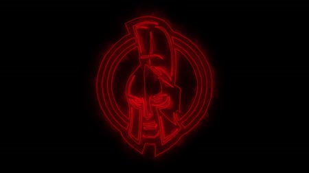 legion : Red Spartan Warrior Animated Logo with Reveal Effect