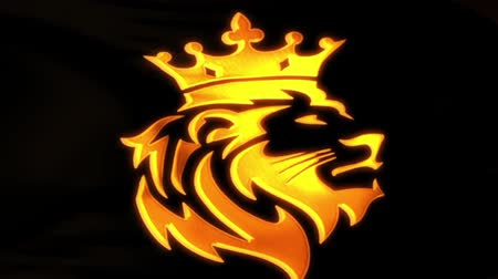 Golden Lion King Flag Intro Logo Motion Background V2