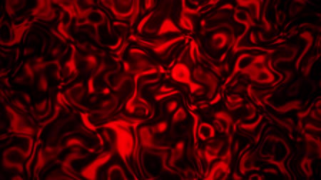 Red Abstract Liquid Metal Fluid Loopable Motion Graphic Background