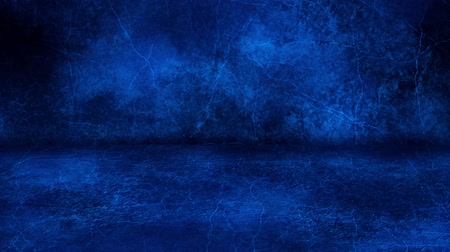 Blue Grunge Wall and Floor Loopable Intro Background Стоковые видеозаписи