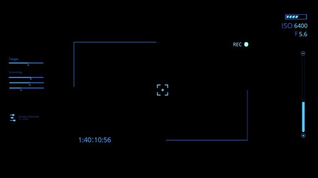 cam : Blue HUD Camera Interface Motion Graphic Element V1
