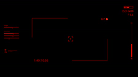 cam : Red HUD Camera Interface Motion Graphic Element V1 Filmati Stock
