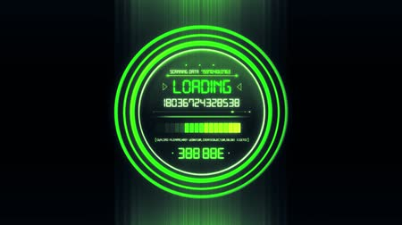 Green White HUD Data Loader Interface Loopable Graphic Element V2