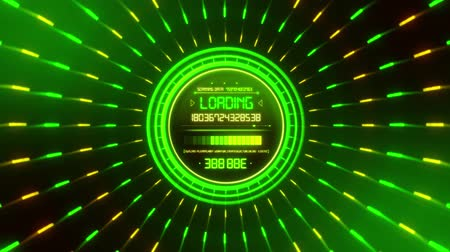 погрузчик : Green Data Loader Loopable Motion Graphic Background
