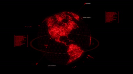 погрузчик : Red HUD 3D Earth Hologram Interface Graphic Element