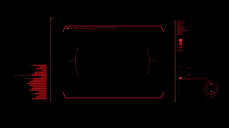 スキャン : Red HUD Infographic Interface Motion Graphic Element