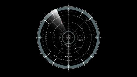 grãos : White Gray HUD Radar Interface Motion Graphic Element Stock Footage