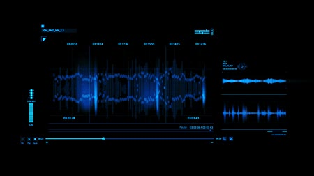 голос : Blue HUD Voice Recording Interface Graphic Element