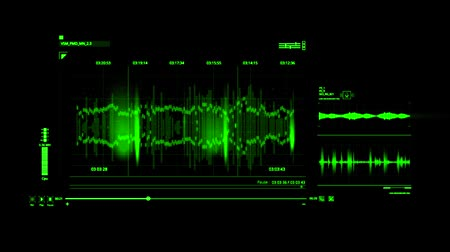 голос : Green HUD Voice Recording Interface Graphic Element