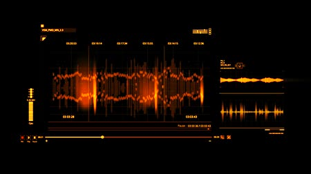 vokal : Orange HUD Voice Recording Interface Graphic Element