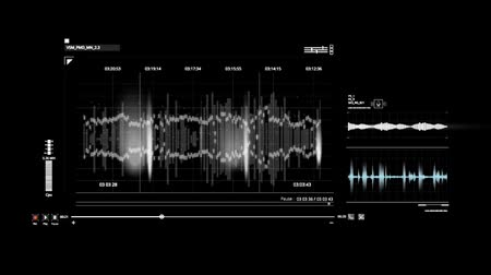 vokal : White HUD Voice Recording Interface Graphic Element Stok Video