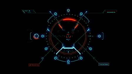 crosshair : Blue Orange HUD Weapon Interface Motion Graphic Element