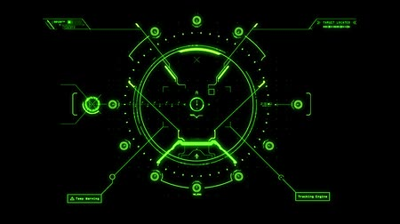 crosshair : Green HUD Weapon Interface Motion Graphic Element