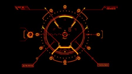 crosshair : Orange Orange HUD Weapon Interface Motion Graphic Element