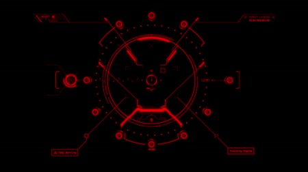 crosshair : Red HUD Weapon Interface Motion Graphic Element