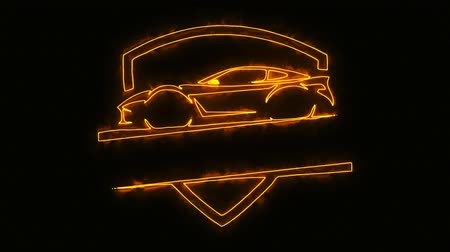 ladění : Orange Sport Car Animated Logo with Reveal Effect