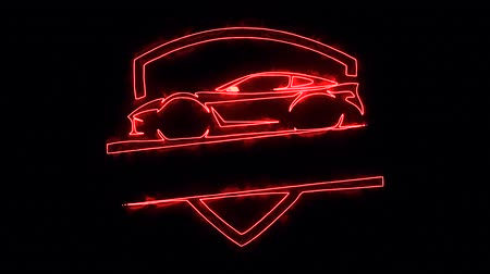 ladění : Red Sport Car Animated Logo with Reveal Effect