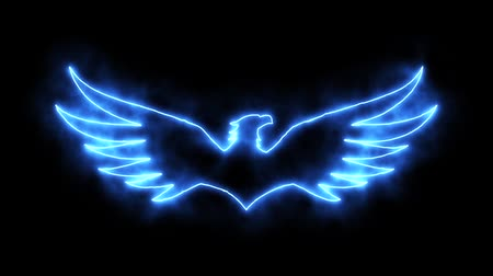 anka kuşu : Blue Burning Eagle Animated Logo with Reveal Effect
