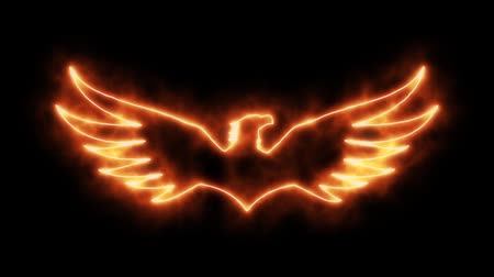 tatoo : Orange Burning Eagle Animated Loopable Graphic Element