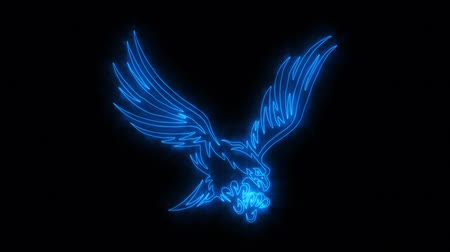 tatoo : Blue Burning Eagle Animated with Reveal Effect