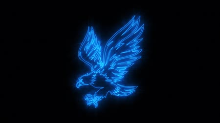 fenice : Blue Burning Eagle Logo Loopable Graphic Element