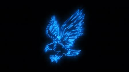 wild bird : Blue Burning Eagle Animated Logo with Reveal Effect