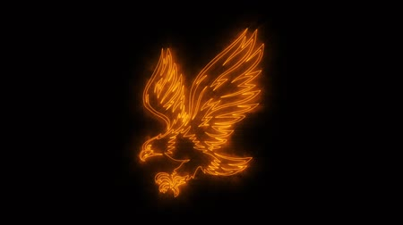 luňák : Orange Burning Eagle Animated Logo with Reveal Effect Dostupné videozáznamy