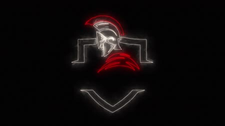 legion : Red White Spartan Warrior Loop Graphic Element