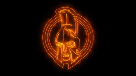 legion : range Spartan Warrior Animated Logo with Reveal Effect