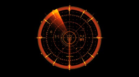 Orange HUD Radar Interface Motion Graphic Element