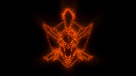 legion : Orange Spartan Warrior Animated Logo with Reveal Effect
