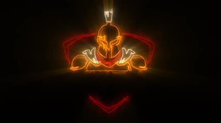 legion : Colorful Spartan Warrior Animated Logo with Reveal Effect & Light Rays