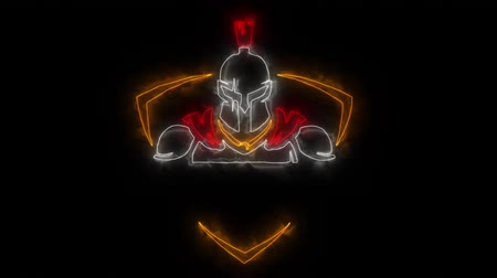 legion : Colorful Spartan Warrior Animated Logo with Reveal Effect