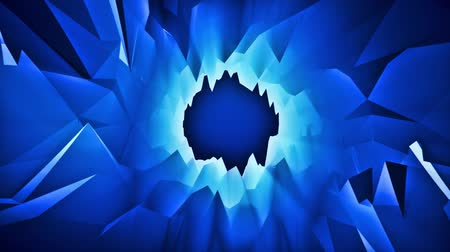 iluminado pelo sol : Blue 3D Low Poly Crystal Cave Tunnel Loopable Motion Background Vídeos