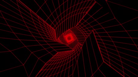 seu : 3D Red Sci-Fi Digital Tunnel Loopable Motion Background