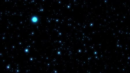 starry sky : Inside a Blue Particles Field Loopable Motion Background