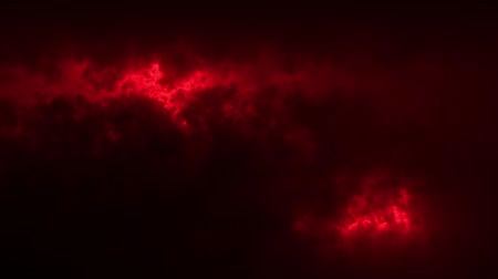 фрактальный : Red Sci-Fi Sky Clouds Loopable Motion Graphic Background Стоковые видеозаписи