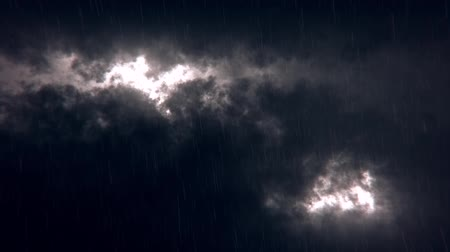 imaginární : White Sci-Fi Sky Clouds with Falling Rain Loopable Background