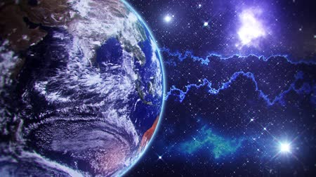 universo : Pianeta Terra - Spazio Ambiente Loop Motion Graphic Background