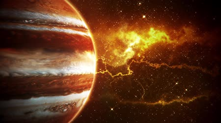 Венера : Solar System Planets Jupiter - Space Ambience Loop Motion Background