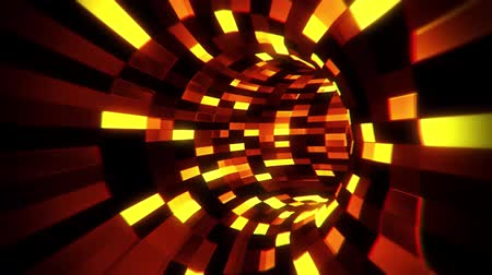 intelligencia : 3D Orange Sci-Fi Arificial Intelligence Tunnel - VJ Loop Motion Background