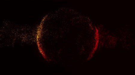 concêntrico : Orange Red Particles Sphere Circle Intro Motion Background