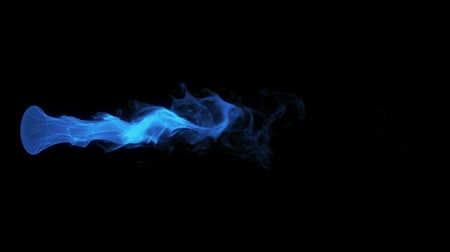 камин : Blue Fire Flame Element Overlay Motion Graphic