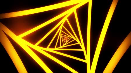 urdidura : Orange Triangles Tunnel VJ Loop Motion Graphic Background Stock Footage
