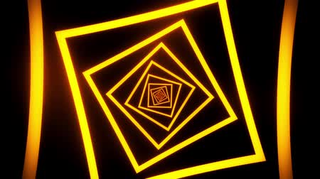 fluorescent : Gold Squares Tunnel VJ Loop Motion Graphic Background