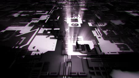 gpu : 3D White Sci-Fi Mother Board Circuits Intro Logo Background